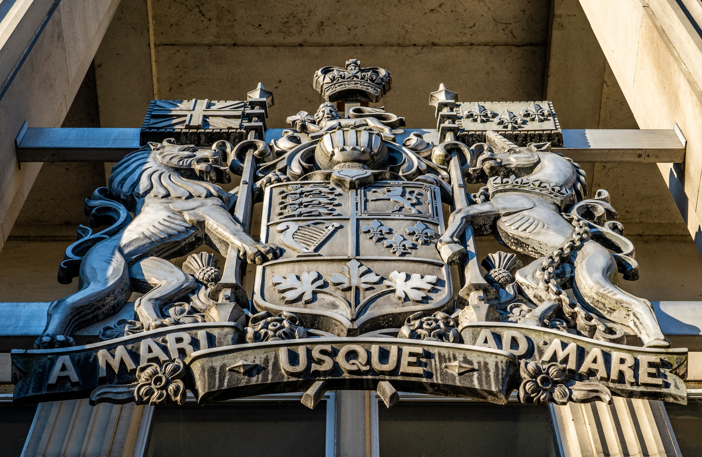 Canada's coat of arms (at a local post office)
