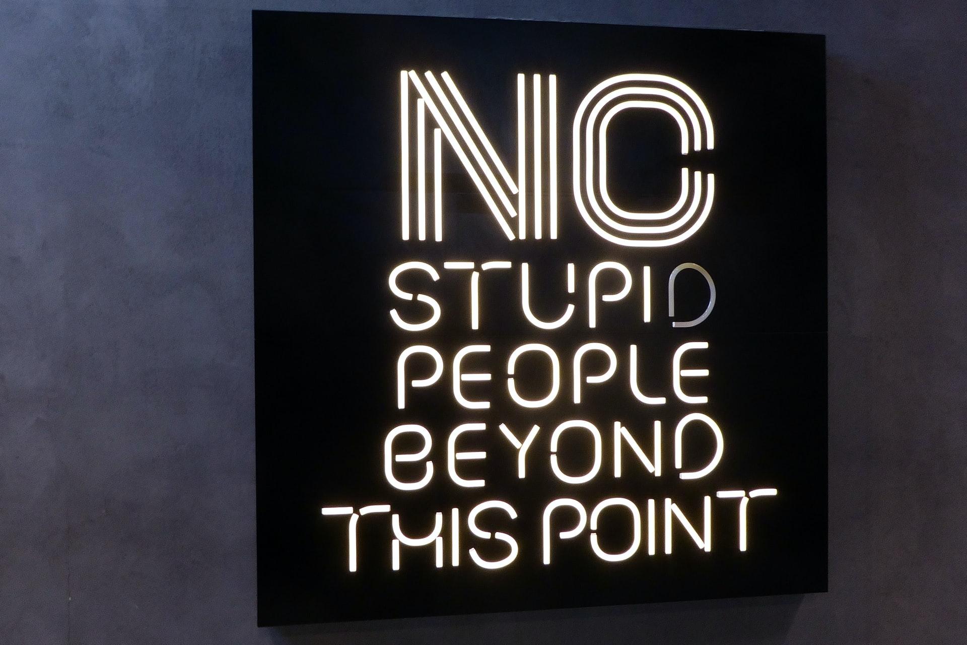 no stupid people
